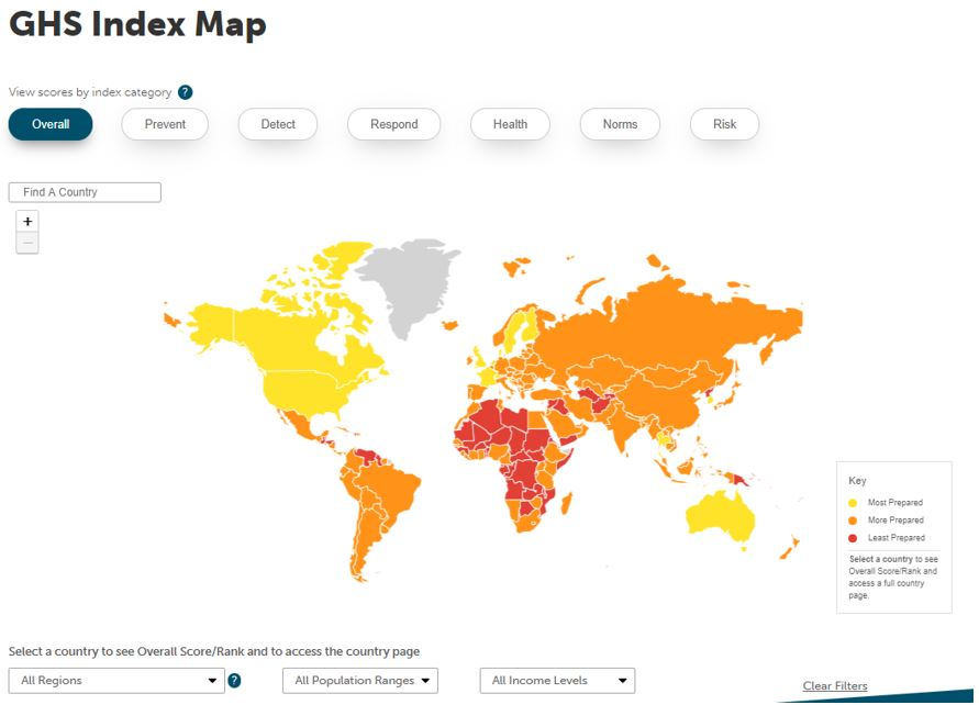 GHS index map