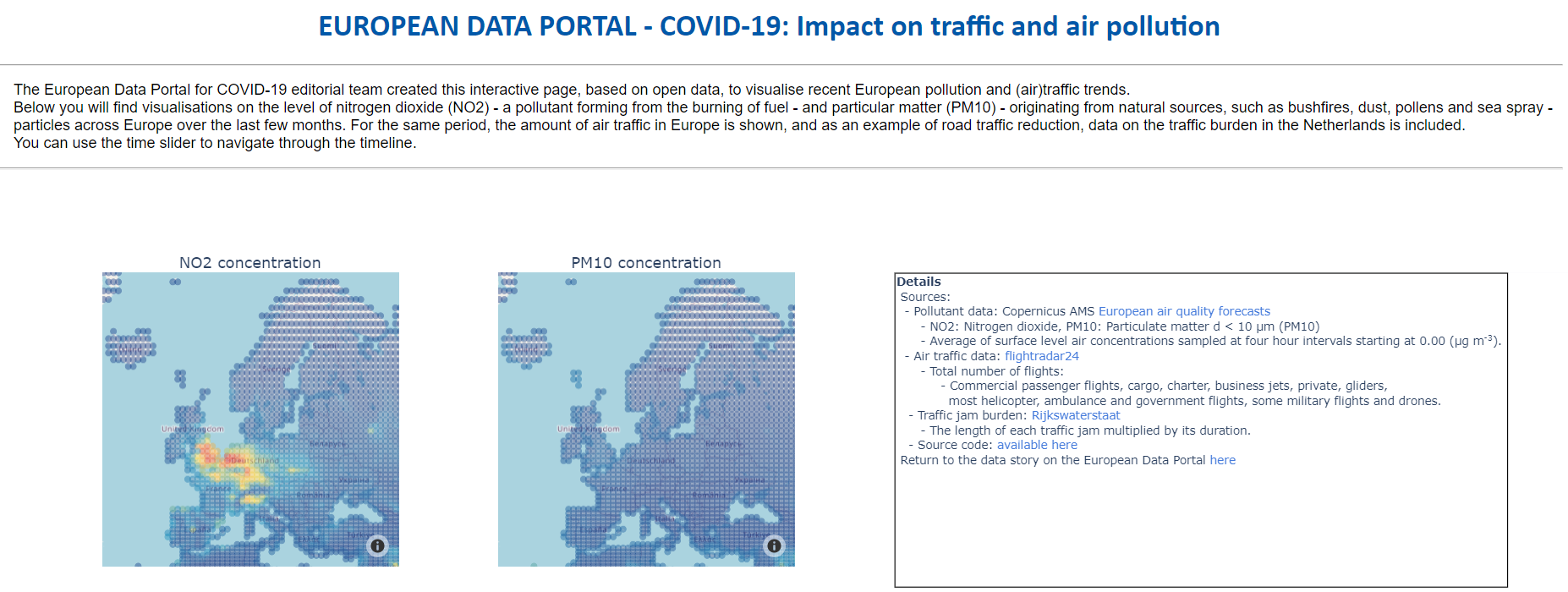 EDP for COVID-19 visualisation