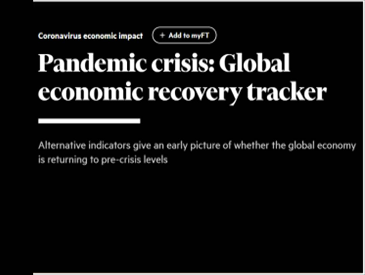 Financial Times creates Global Economic Recovery Tracker