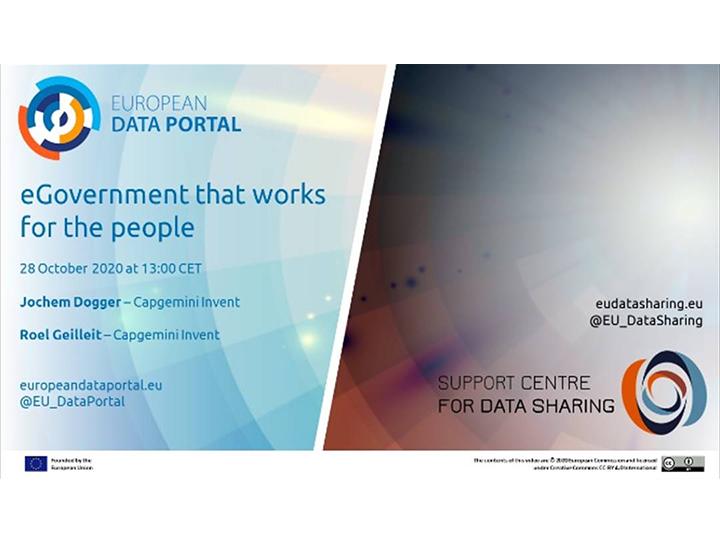 eGovernment that works for the people, works and learns with data!