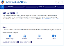 COVID-19 data stories page